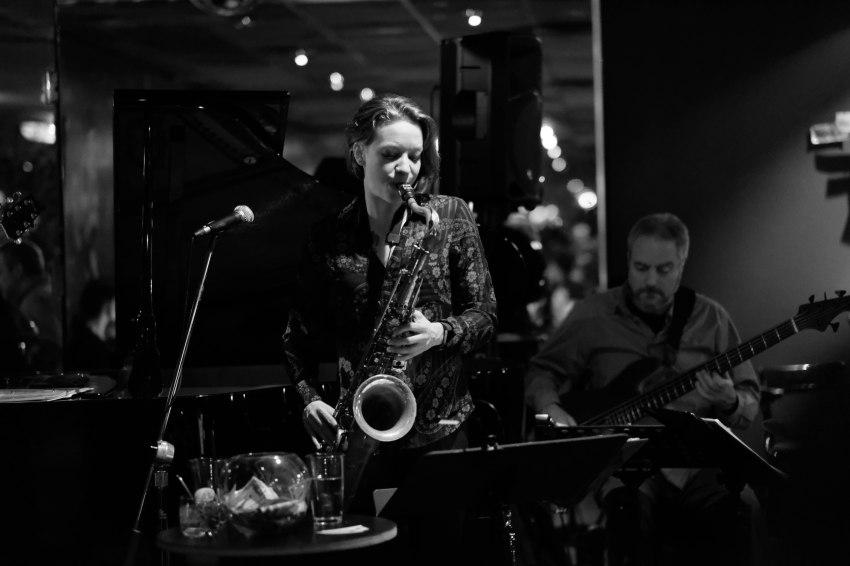 Kate Olson Quartet Kate and guitarist Vito
